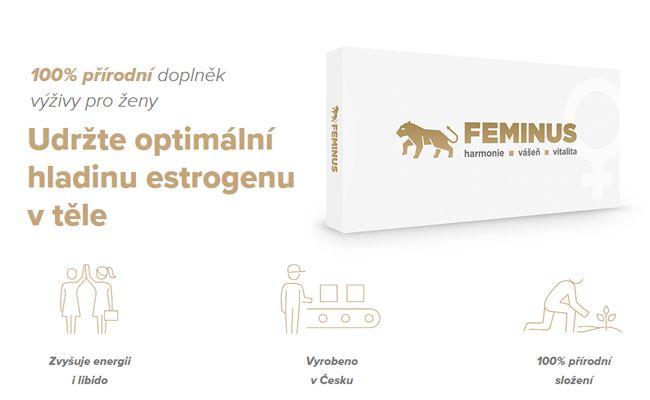 Zvyšte hladinu estrogenu pomocí Feminus doplňku stravy