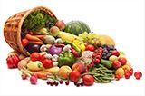 Ovoce a zelenina ke zvětšené prsou